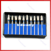 Wholesale Set Tungsten Steel Dental Burs Lab Burrs Tooth Drill