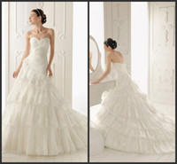 A-Line Model Pictures Sweetheart wholesale --2014 Customer Made Fashion Beautiful Sweetheart Sleveless Mop the floor three feet Organza A-Line Wedding Dresses A004