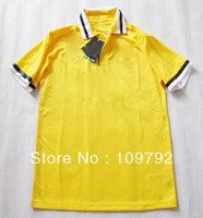 Wholesale top Thailand Quality Players version Juventus Away Yellow Soccer Football Jersey Embroidered logo