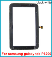 Wholesale 20pcs Best Quality Touch Screen Digitizer For Samsung Galaxy Tab P6200 inch Touch Screen Front Panel Glass Lens digitizer Free DHL