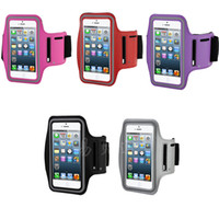 Wholesale DHL Free Stylish WaterProof Sport Gym Running Armband Protector Soft Pouch Case Cover For For Apple iphone s G C S