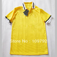 Wholesale 2013 top Thailand Quality Players version Juventus Away Yellow Soccer Football Jersey Embroidered logo