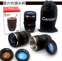 Wholesale th Generation stainless steel liner travel thermal Coffee camera lens mug cup with hood lid ml g caniam