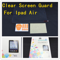 Wholesale Screen protector for ipad air inch Clear screen guard With pacakage set DHL fedex for ipad air