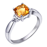 Band Rings Natural crystal / semi-precious stones Citrine Flammable volcano 925 sterling silver fashion lady natural citrine ring knuckle rings non-mainstream lettering