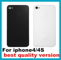 Wholesale 100pcs Best Quality Back Glass Battery Housing Door Cover Replacement Part Black White for iphone S G S CDMA