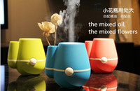 Wholesale USB Vase Humidifier Aromatherapy Oxygen Anion Ultrasonic Atomizing Device Blue Red Green Office Super Mute FreeShipping LJH