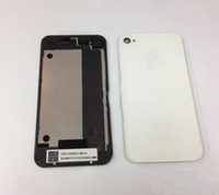 Wholesale Hot Back Glass Battery Housing Door Back Cover Replacement Part with Flash Diffuser for iphone S