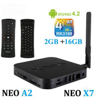 Wholesale MINIX NEO X7 Android TV Box RK3188 Quad Core Media Hub Player Android GB RAM GB Nand Flash Mini PC GHz WiFi RJ45 OTG XBMC A2