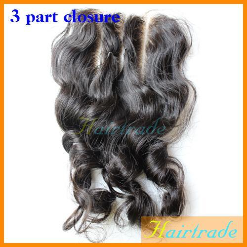 Three\/3 Way Part Closure Loose Wave Natural Color Russian Eurasion ...