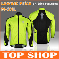 Wholesale Cycling Jerseys Mens Womens Tops Long Sleeved Light Green Autumn Winter Polyester Windproof Clothing Cycling Shirts Cycling HW0014