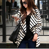 Jackets Women Cotton New hot Christmas Women's Cardigan Long Sleeve Cotton Blouse Jackets Stripe Coat Top Drop Shipping 18299