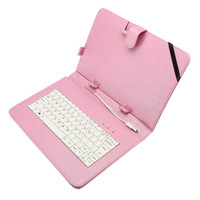 Wholesale Inch Leather Flip Tablet Case with Stand keyboard USB Plug for Inch Tablet PC