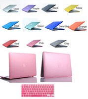 13'' Sleeve PP Macbook Case Crystal Transparent Hard Cover & Free Silicone Kayboard Skin For Apple Macbook Air Pro Retina 11 12 13 15 Inch