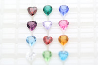 Wholesale excellent floating charm mm heart birthstones colors no glass locket in this order Xmas gift mother s day