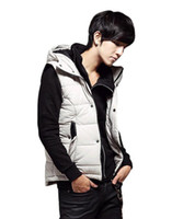 Wholesale sweaters hot sale men s cotton hooded vest Two colors M XL P664