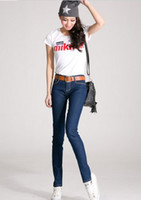 Wholesale hotest Size S M L XL lady jeans sexy elastan jeans slim fit sexy jeans sell at factory price but high quality