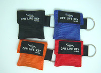 Wholesale CPR Face Mask Polyethylene Face Shield Mouth to MouthBreath Mask cpr keychain kit