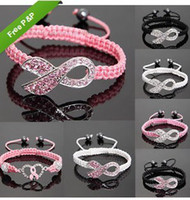 Charm Bracelets   Shamballa Crystal Pink Ribbon Breast Cancer Awareness Bracelet Gift
