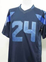 2013 New Style Marshawn Lynch #24 Drenched Limited Jersey Fo...