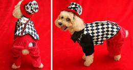 Головные уборы для собак для продажи-прекрасный косплей моды Счастливый магия черный / белый решетки XS-XL собака питомец установить одежду в шляпе на Рождество Хэллоуин