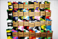 Wholesale Christmas Gift Summer Huf Plantlife Socks Stockings Double layer Heel and Toe For Skateboarders and hiphop dancers FEDEX Free
