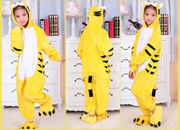 Yellow Tiger Kids Onesies Onesie Pajamas Kigurumi Jumpsuit Hoodies Sleepwear For Children (no claw) Welcome Wholesale Order