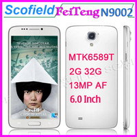 "Tianhe 6.0 Android 4.2 N9000 Note III Note3 Tianhe N9002 6.0"" HD 1280*720 MTK6589T 1.5GHz Quad Core Android Smart Phone 2GB RAM 32GB ROM 13.0MP WCDMA Android 4.2"