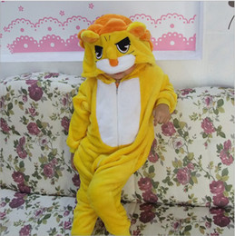 Gold Lion Onesies for Kids Onesie Pajamas Kigurumi Jumpsuit Hoodies Sleepwear For Children (no claw) Welcome Wholesale Order
