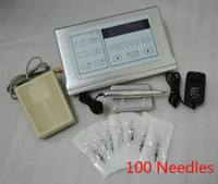 Wholesale Permanent makeup kit tattoo machine with digital tattoo power supply and makeup needles hot sale