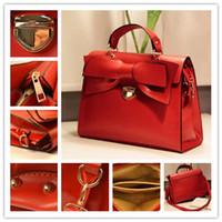 bead business - Women leisure Totes handbag shoulder bag briefcases Fashion bow female Bags messenger bag