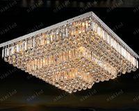 nimi143 L50 / 60/70/80/90/100 / 120см LED Кристалл Прямоугольный / Квадратный потолочный свет лампы освещения для гостиной Столовая Спальня