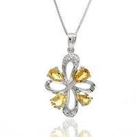 Pendant Necklaces Natural crystal / semi-precious stones Citrine Flammable volcano genuine natural citrine pendant necklace female jewelry