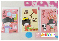 Wholesale Children s stationery kawaii Japanese doll girl greeting post card with envelop greeting card dandys