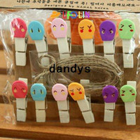 Wholesale Children s stationery mini match wooden clip Clip set per set Message folders Fashion Style creative Gift Wholesaledandy