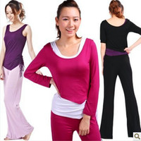 Wholesale Sexy Winter Clothes Women Yoga Pants Vest Shirts Suits Ladies Fitness Cloth Long Sleeve Yoga Wear Three piece Fitness Clothing For Women