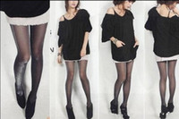Foot Cover Women Polyester Women's Sexy Shiny Black Pantyhose Stocking Tights Free Shipping 1140