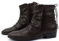 Wholesale 2013 New Arrival Men Motorcycle Boots Winter Shoes for Men High Quality Boots XMX009