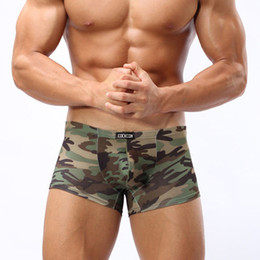 Wholesale MC04 New Arrival Summer Cool Men s Underwear Men Boxers Shorts Camouflage Ice Silk U Convex Underwear