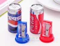 Wholesale Hot Sale New Pencil Sharpener Creative dual Stationery cola shape pencil sharpener eraser Pencil Sharpener