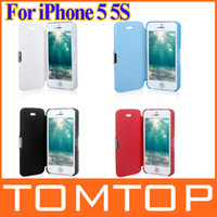 Wholesale New Arrive Magnetic protective Leather Flip Hard Full Case Cover for iPhone S Blue Black White Red PA1550