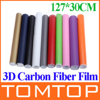 Wholesale 127 CM D Carbon Fiber Film Vinyl Sticker Car Body Interior Decoration Purple Pink Red Green Grey Golden Black Blue White K989