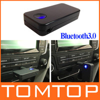 Wholesale Wireless Car Bluetooth Stereo Music Audio Receiver for iPhone iPad iPod Samsung Smartphones Handsfree car kit K1009