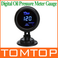 Wholesale Digital Car Auto Oil Pressure Meter Gauge with Sensor mm in LCD PSI Warning Light Car Gauge Meter Pod Holder Cup Mount K973 K976
