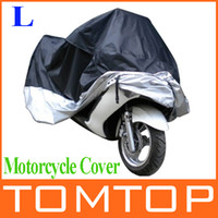 Waterproof 180T polyester taffeta with PU coating    220*95*110 cm  Motorcycle Bike Moped Scooter Cover Dustproof Waterproof Rain UV resistant Dust Prevention Covering Size L 220*95*110 cm K981B-L