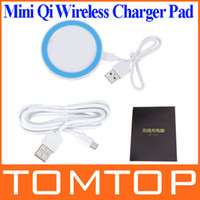 Universal Direct Chargers  Mini Qi Wireless Charger Transmitter charging Pad mat for Google Nexus 4 5 Nokia Lumia 920 iPhone 4 4S Samsung S4 HTC PA1549BL2