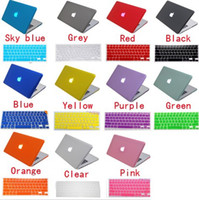 Wholesale Free Silicone Keyboard Skin Matt Transparent Rubberized Hard Case Cover For Apple Macbook Air quot quot Pro quot quot Retina quot