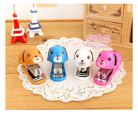 Wholesale Hot Sale New Lily superior product capable mini stapler stapler cartoon puppy styling
