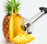 Wholesale Top quality Stainless Steel Fruit Pineapple Peeler Corer Slicer Cutter Kitchen Tool Gift JY43