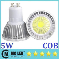 Wholesale GU10 E27 E26 E14 MR16 W Led COB Light Bulbs Angle CRI gt Warm Pure Cool White Led Spotlights Downlights V New Arrival